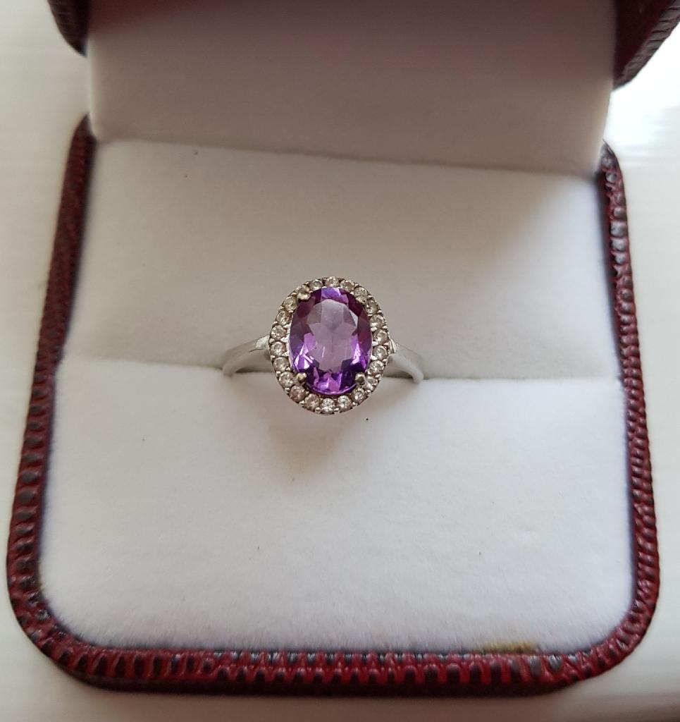 Indian amethyst ring