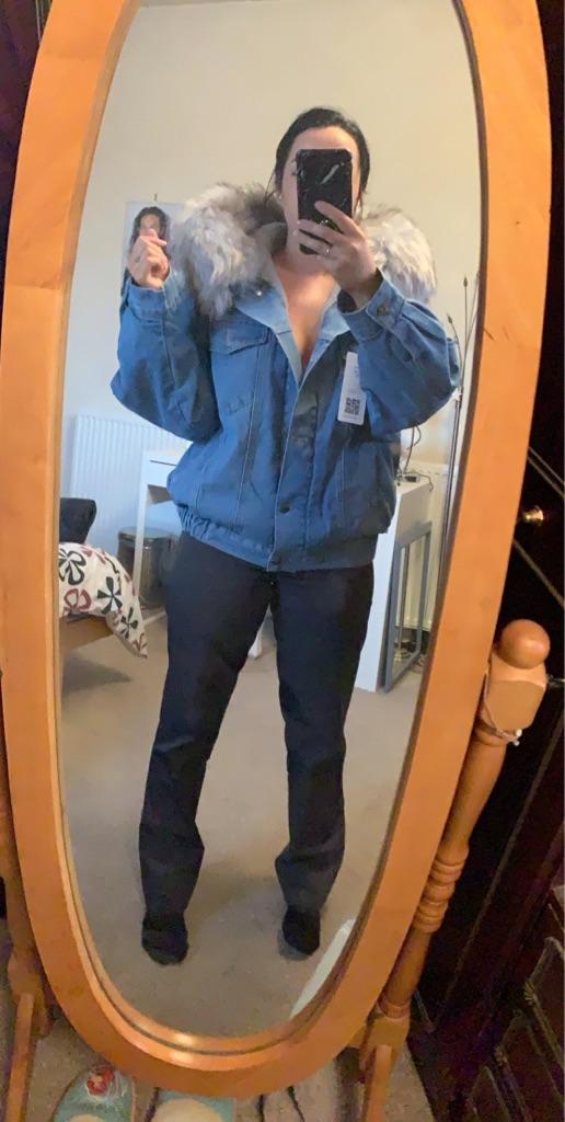 Margone Fluffy Denim Jacket