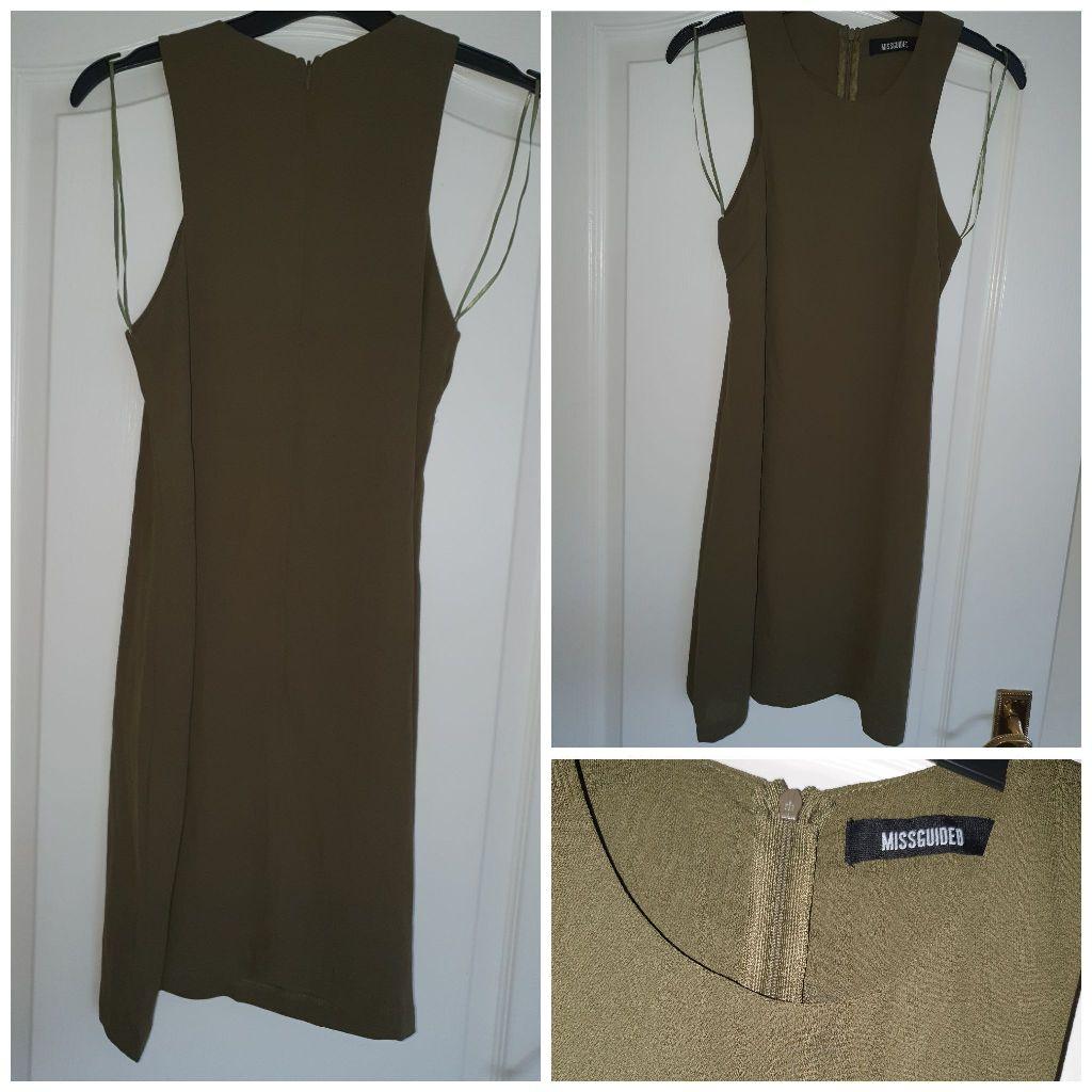 Miss guided khaki dress