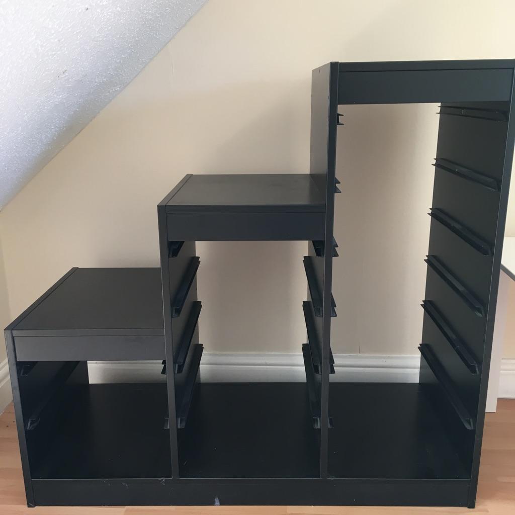 Black Ikea trofast storage cabinet