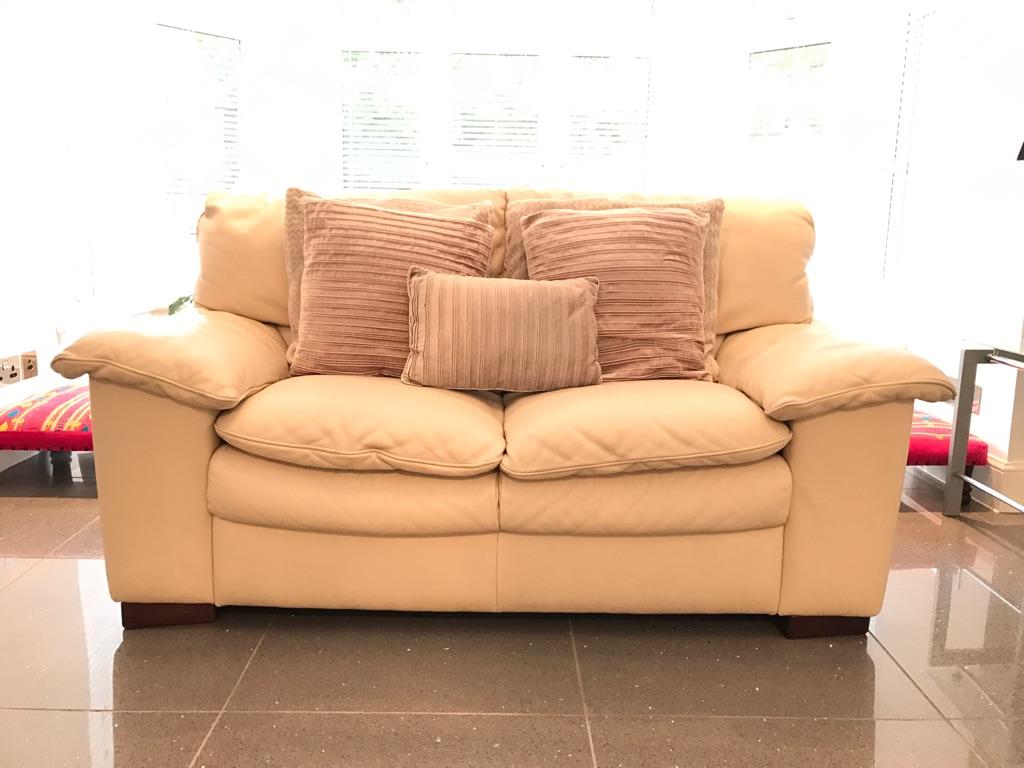DFS comfortable Leather Sofa | Village