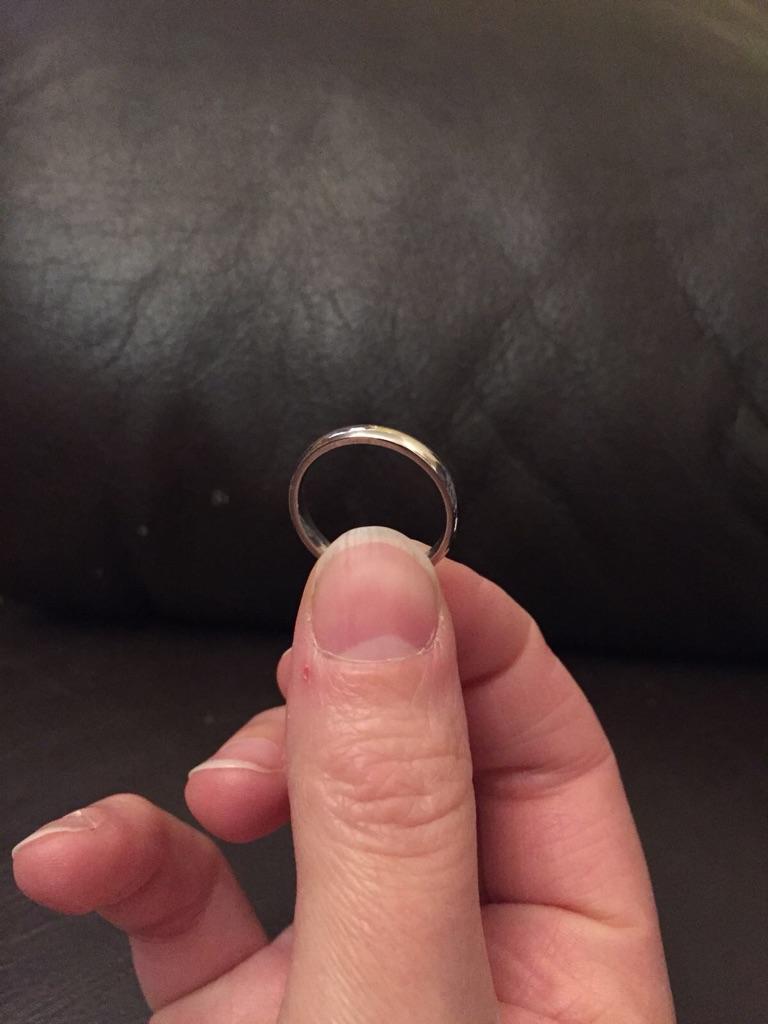 Platinum Women's Wedding Ring Size J