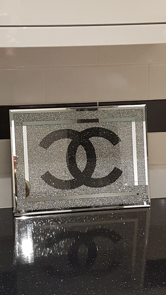 Crushed crystal chopping board new in box