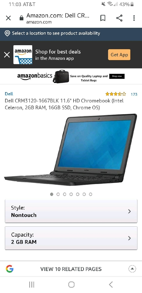 Dell Intel inspiron chromebook