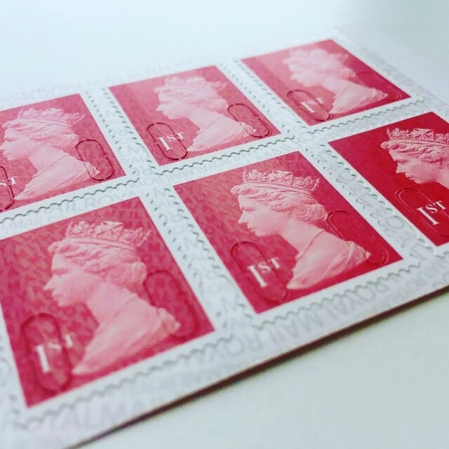 12 x 1st Class Postage Stamps Booklet