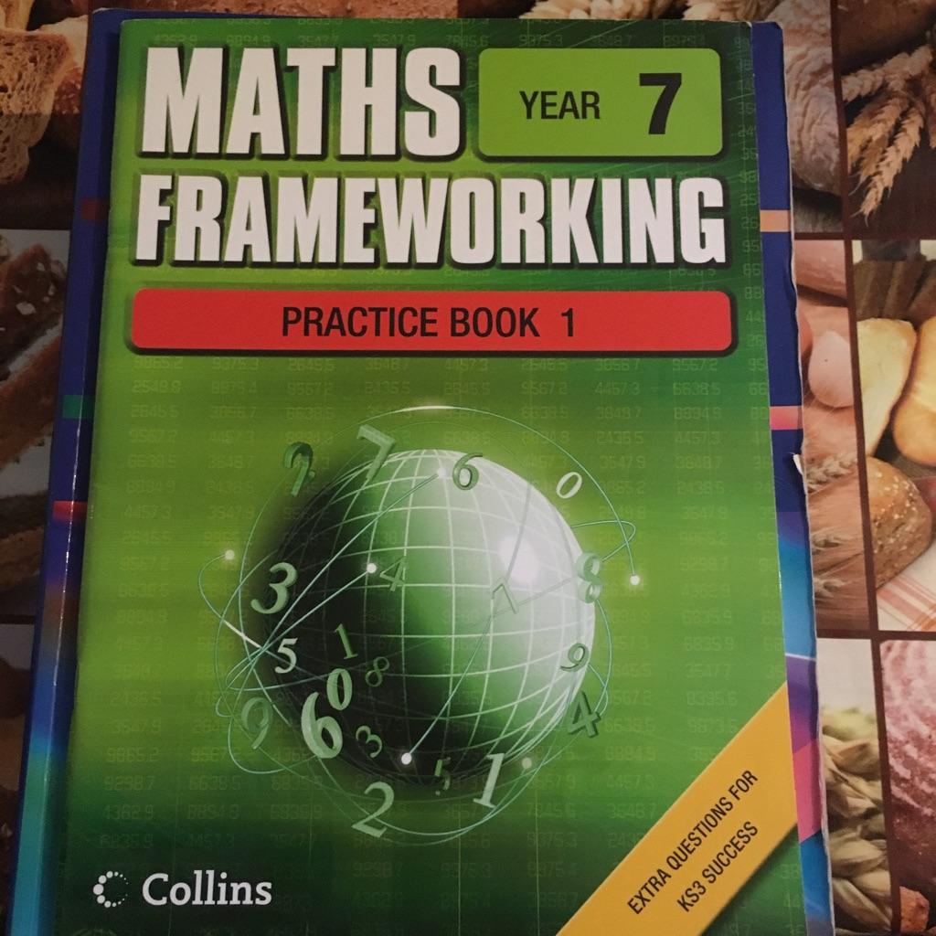 Maths exercise book