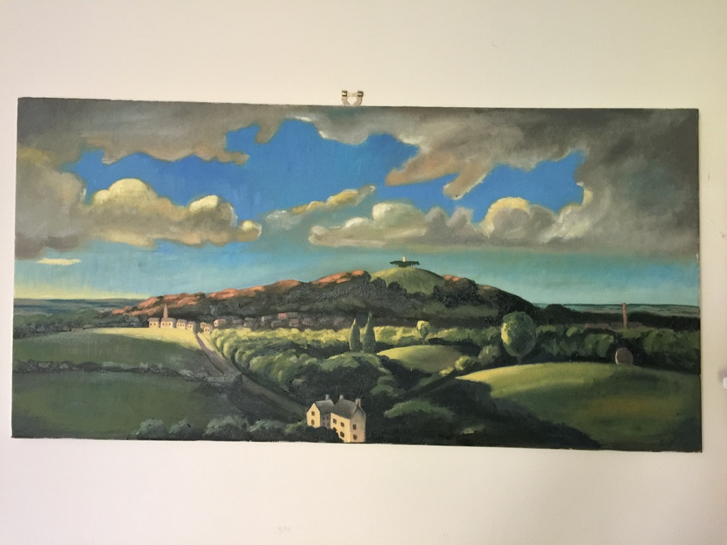 Rough copy (oil on canvas) of Lord Bernard's 1930s painting of Faringdon