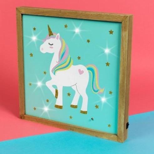 Unicorn magic MDF light up plaque
