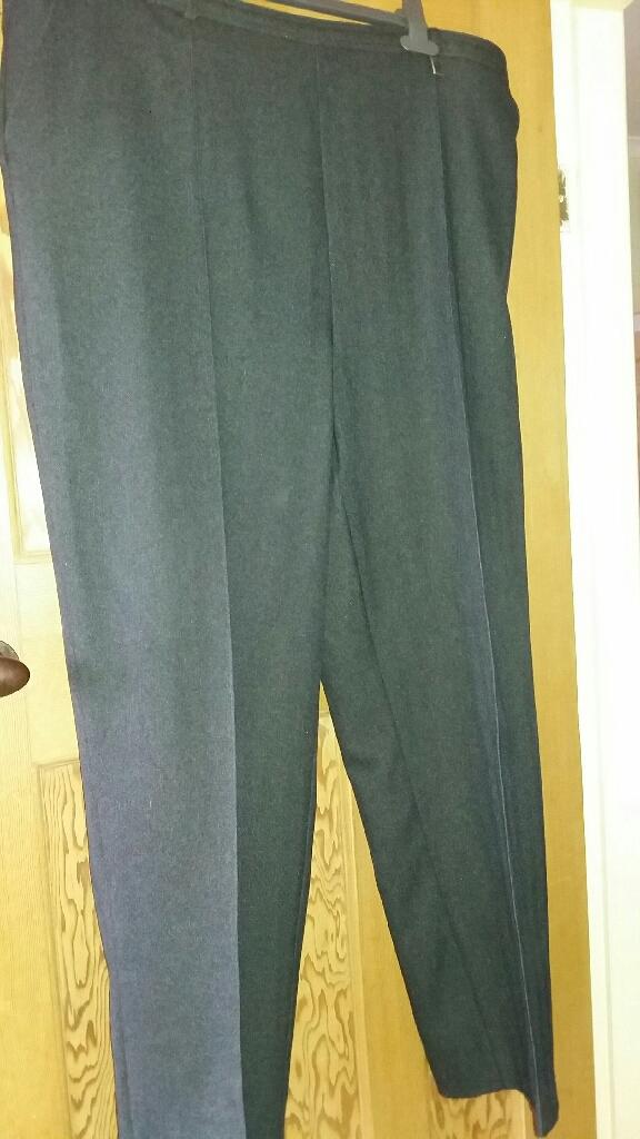 Ladies grey herringbone trousers