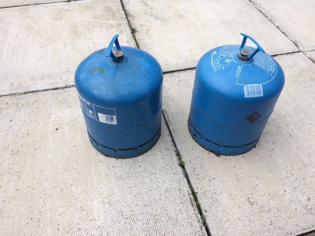 Butane gas canisters