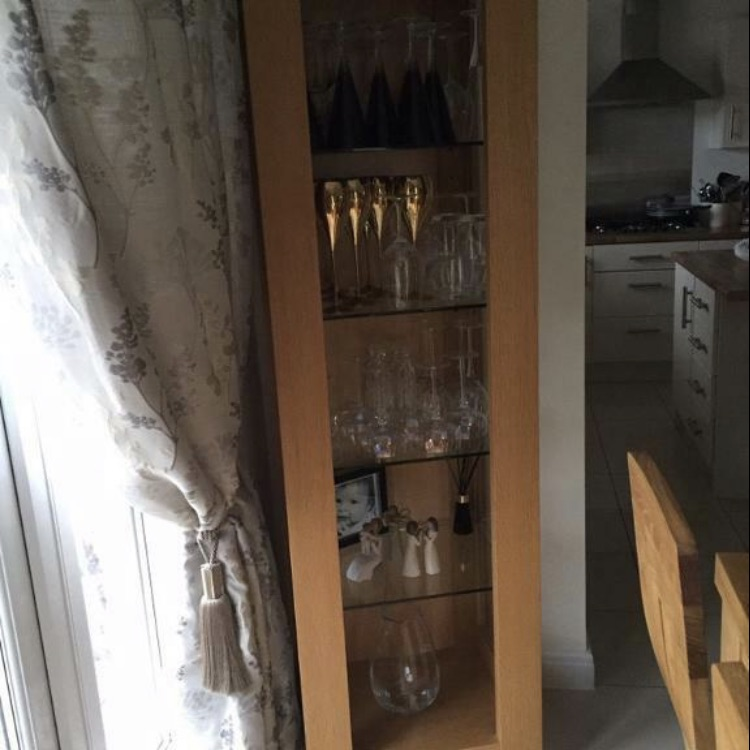 Oak glass unit.