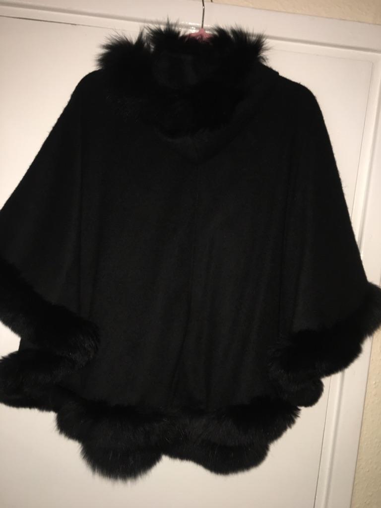 Woman's fur cape