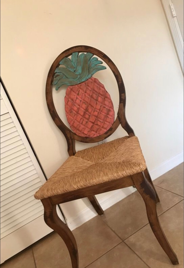 Set of 4 - pineapple chairs