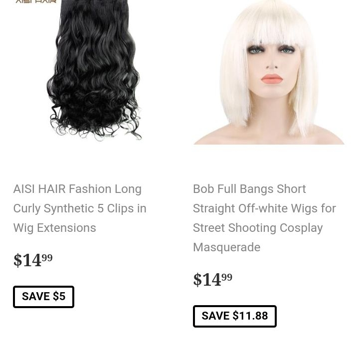 Cute wigs / Pelucas