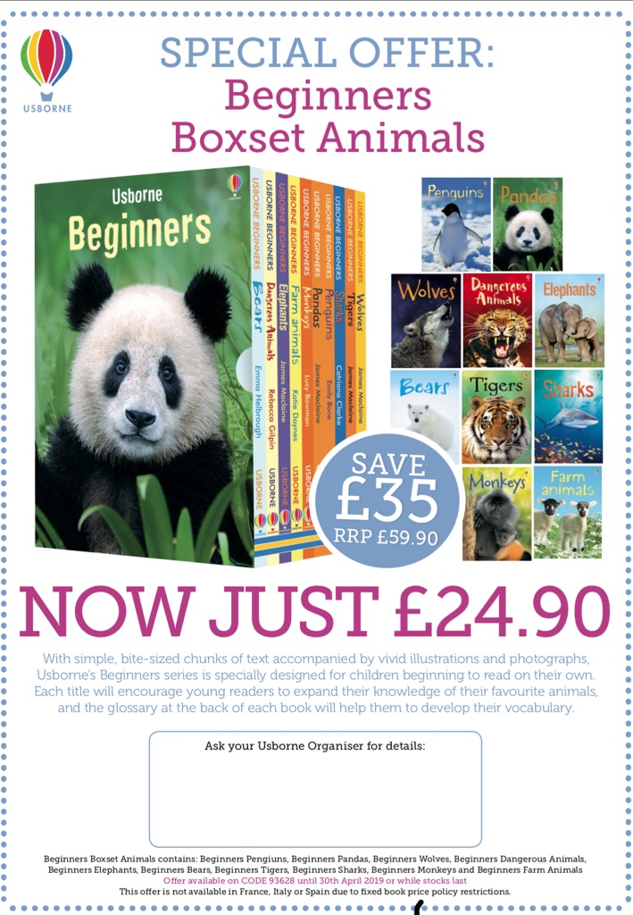 Usborne Beginners animal books