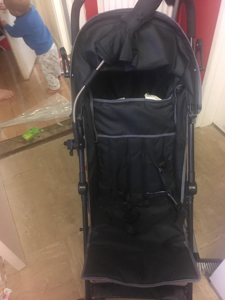 Black pushchair