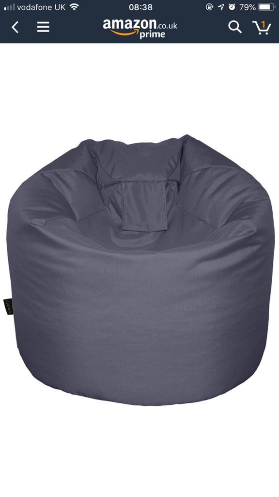 Grey beanbag x2