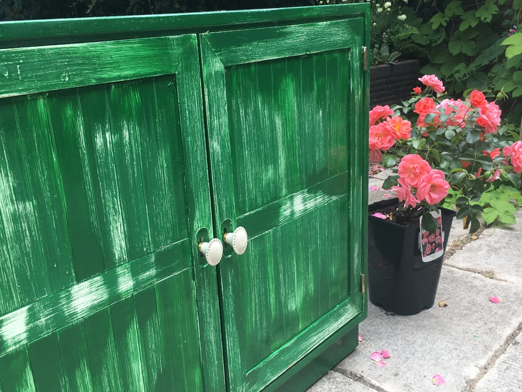 Lovingly upcycled, solid wood cabinet.
