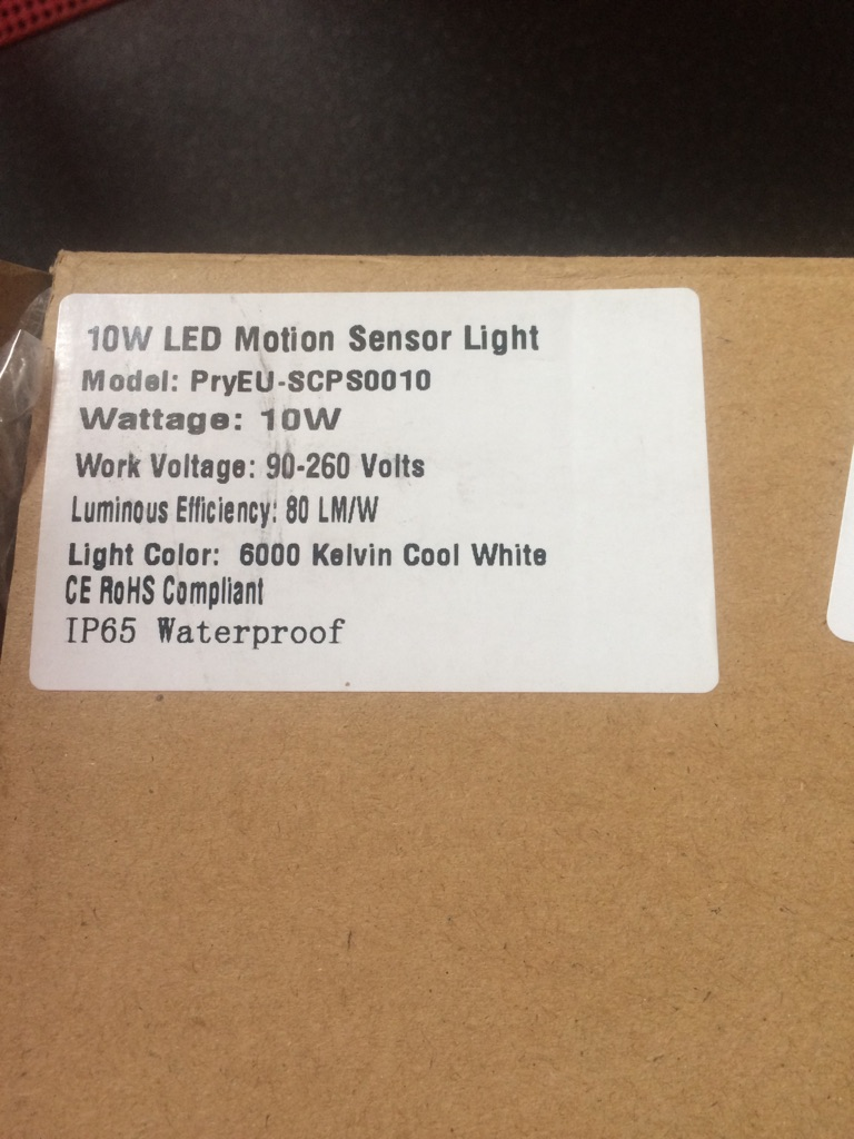 PryEU Outside LED Spot Security Flood Lights (New never used)