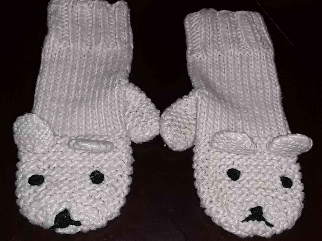 (Like New) Croquet Bear Mittens