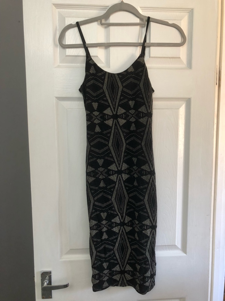 New Look Black&Gold Sparkle Dress