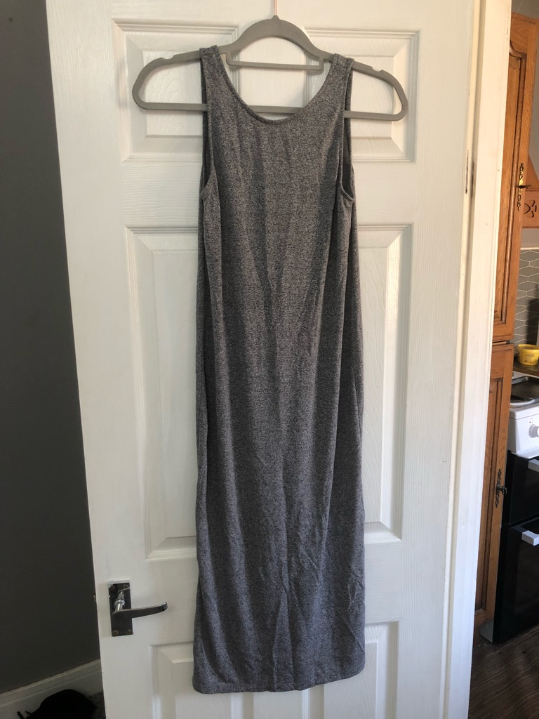 H&M Grey Midi Summer Dress