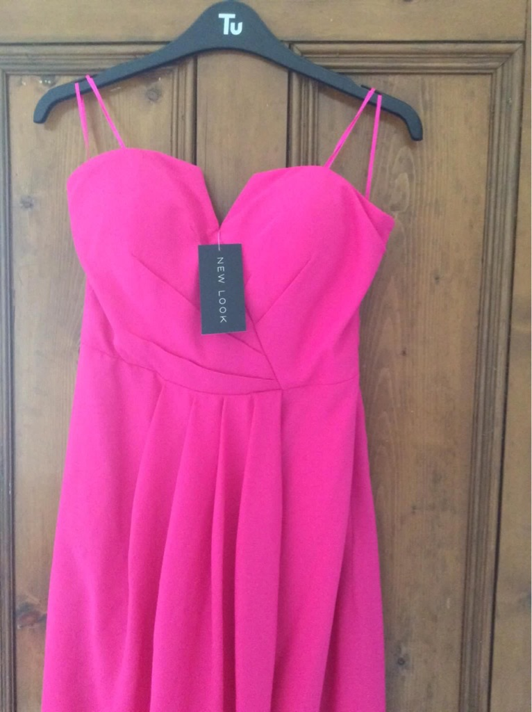 New look pink dress size 10 brand new with tags