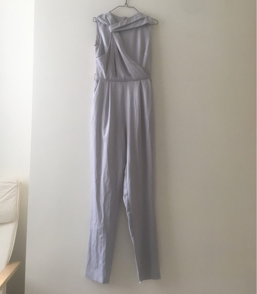 Smart silver-grey play suit