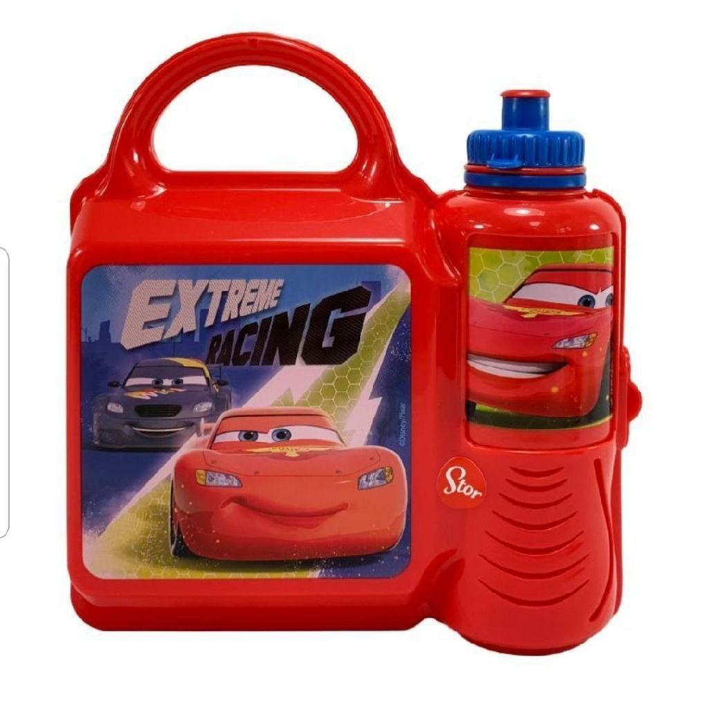 Brand new Disney cars lunch box and bottle set