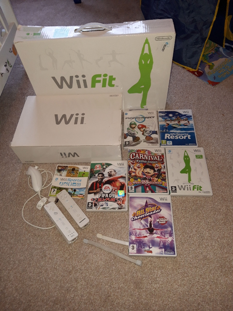 Wii and Games and Wii fit board