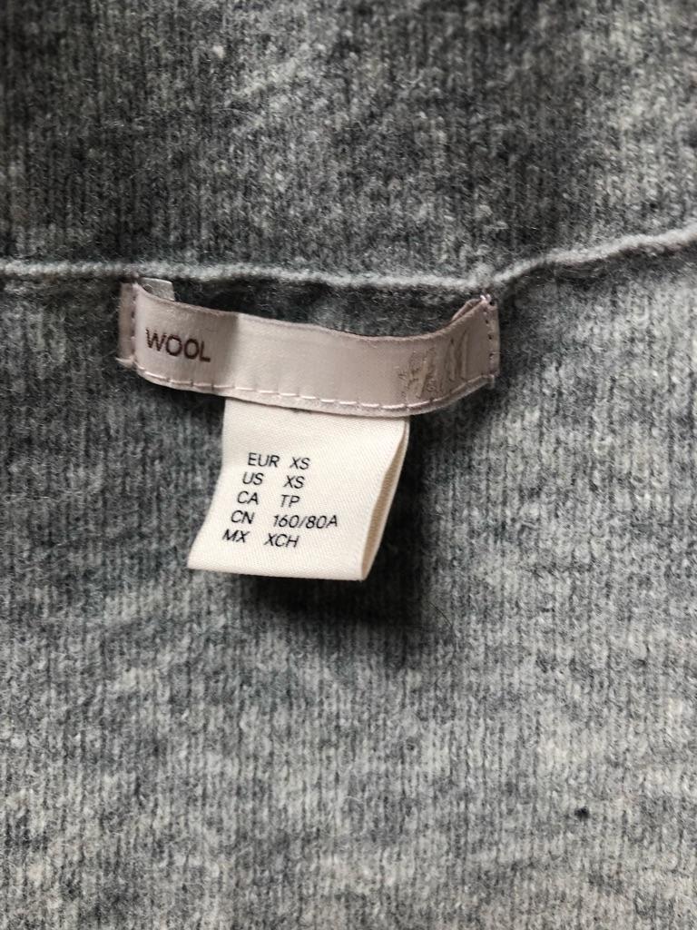 H&M Grey Maxi Wool Dress