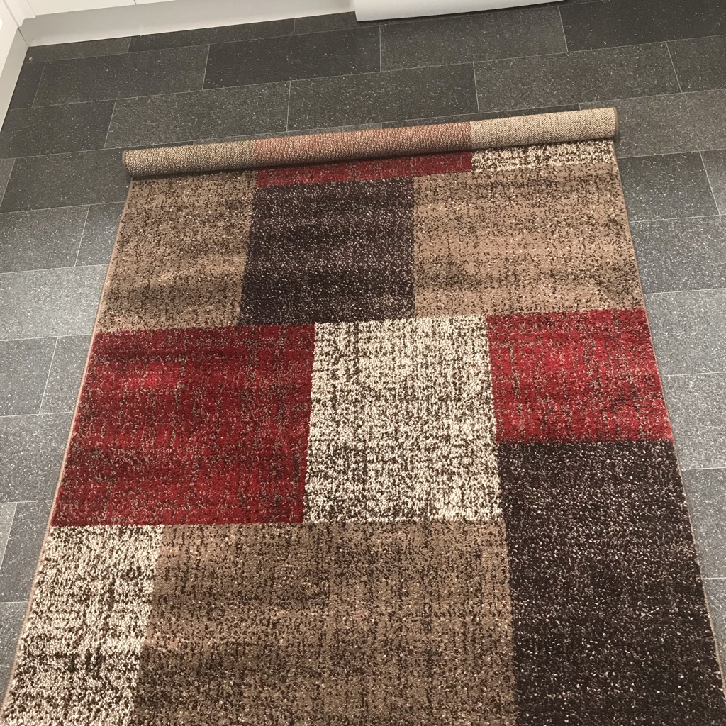 BRAND NEW BROWN/MULTI RUG RRP 70