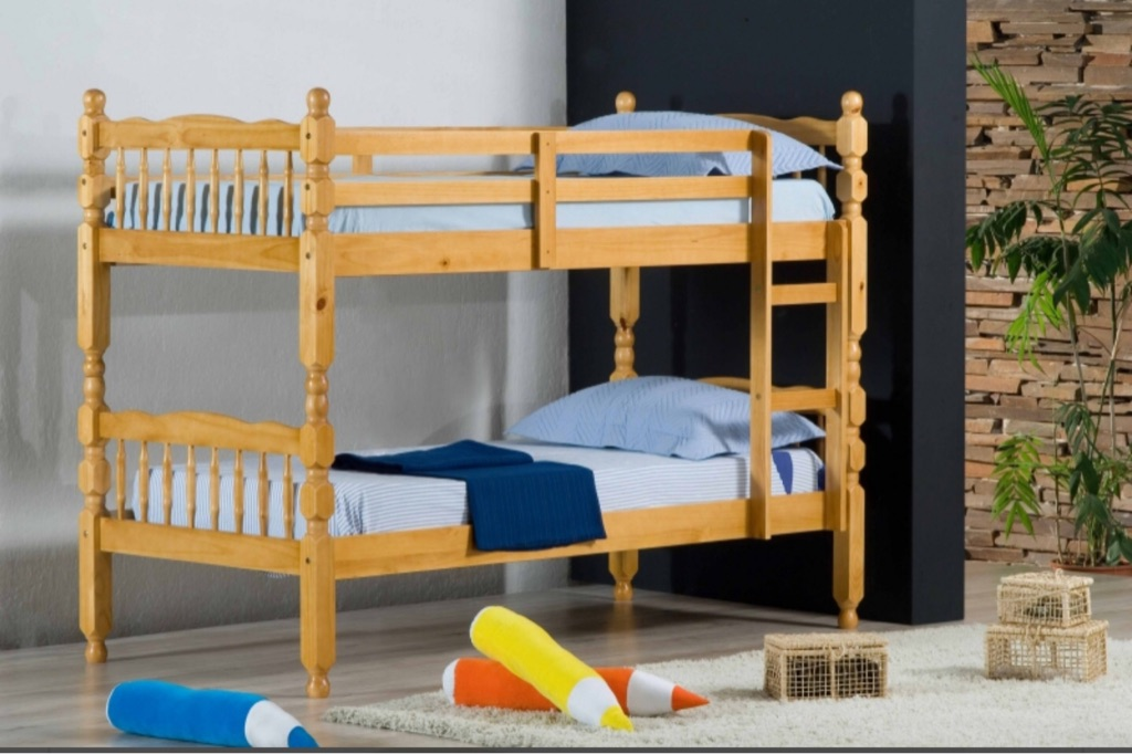Brand new wooden bunk bed