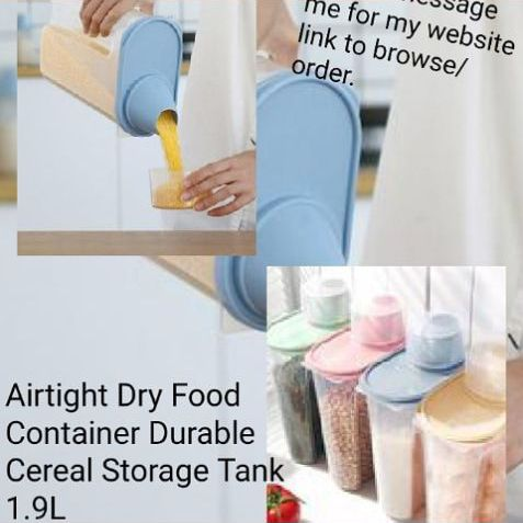 4pcs Airtight Dry Food Container Durable Cereal Storage Tank 1.9L £12.99🚚 free delivery.
