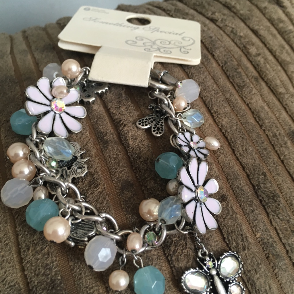 Woman's beautiful charm bracelet
