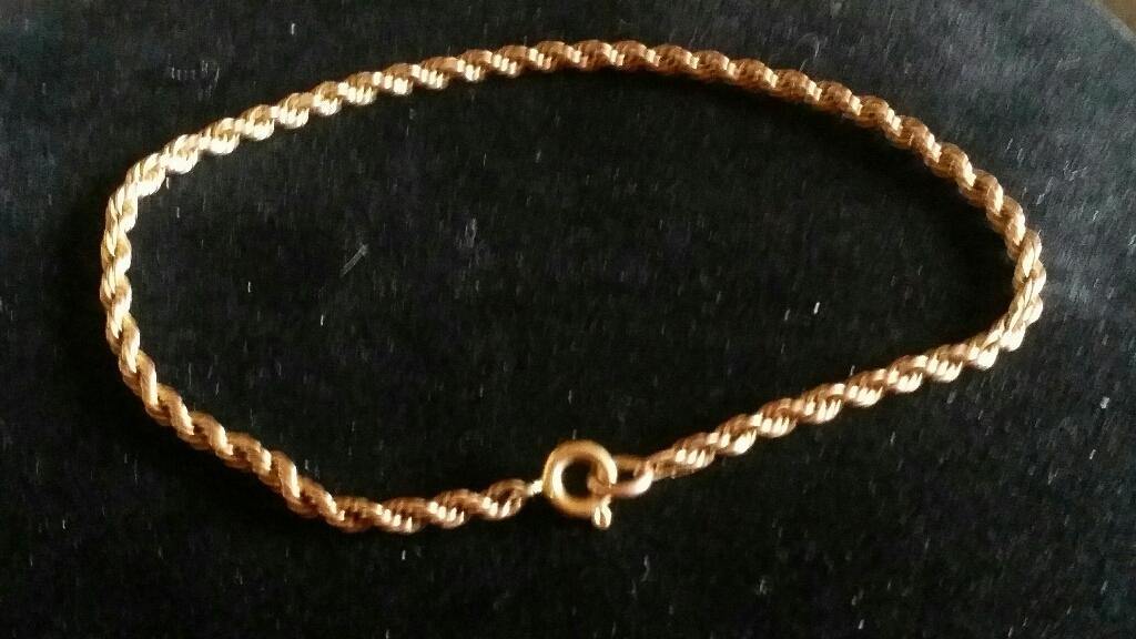 9ct gold Rope bracelet
