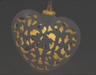 BNIB Shabby Chic LED Heart String Lights