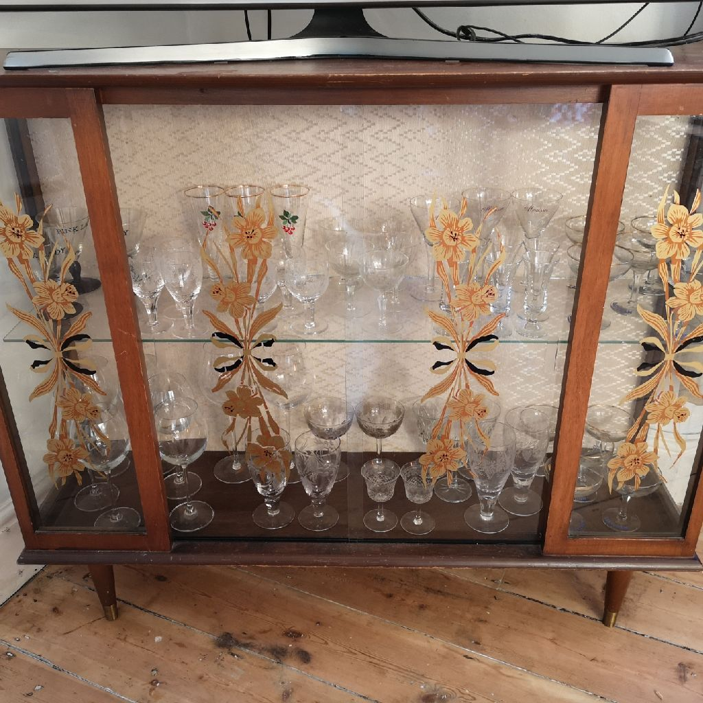 Retro vintage drinks cabinet