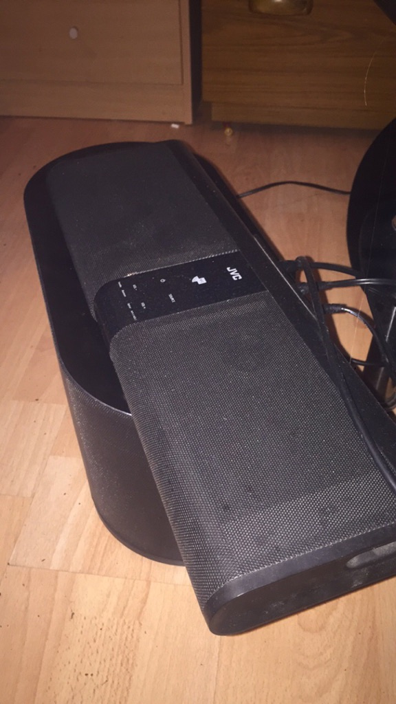 Two Black JCV SOUNDBAR BLUETOOTH SPEAKER