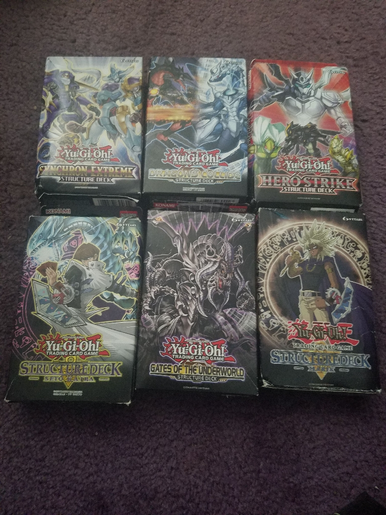 Yu-Gi-Oh Structure Deck Collection Boxes