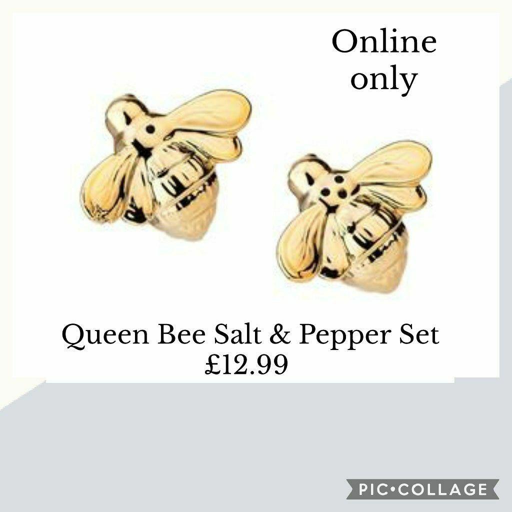 🐝🧂Queen Bee Salt & Pepper Set