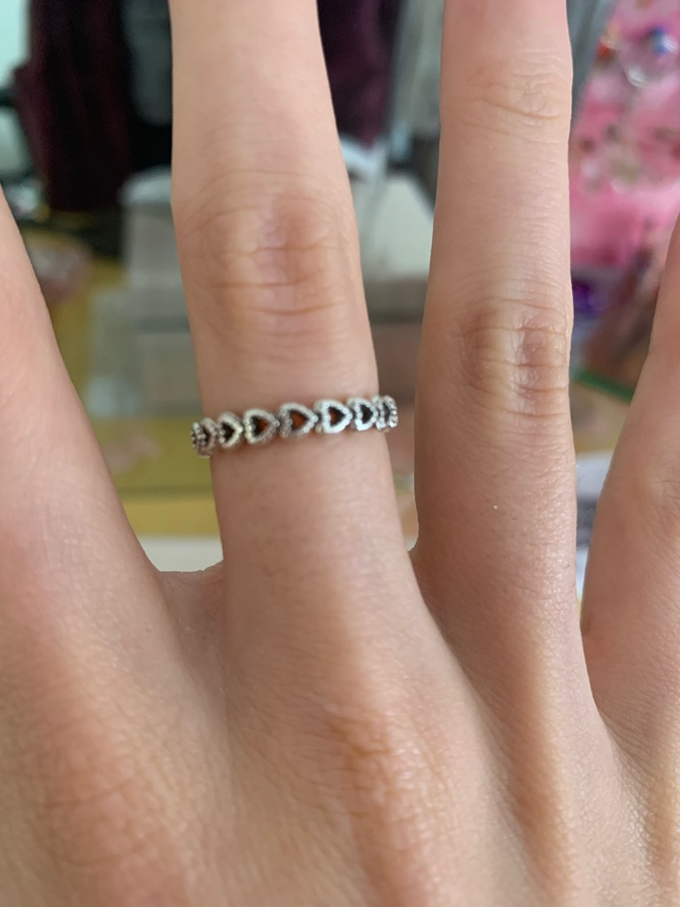 Love heart pandora ring