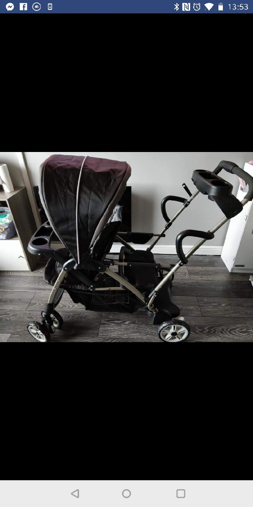 Graco room for two double pram.