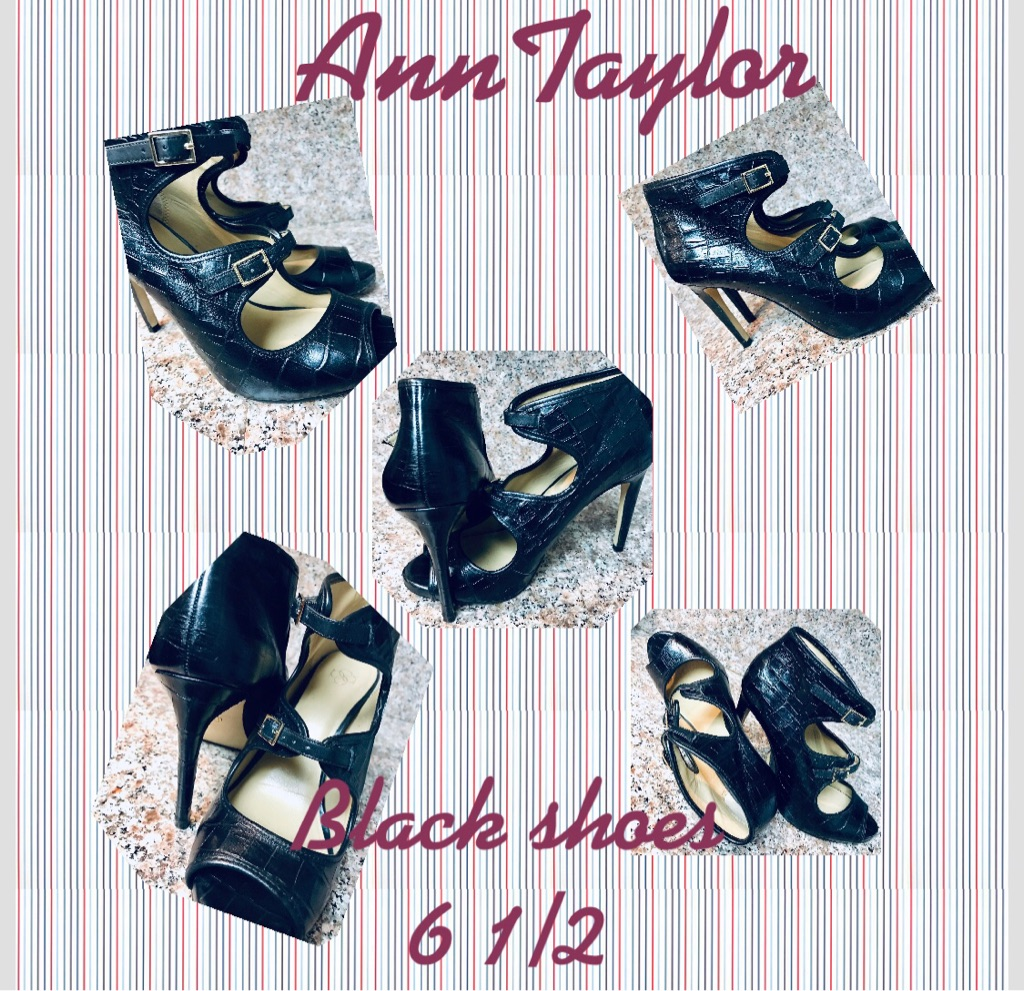 Ann Taylor Black high heeled shoes