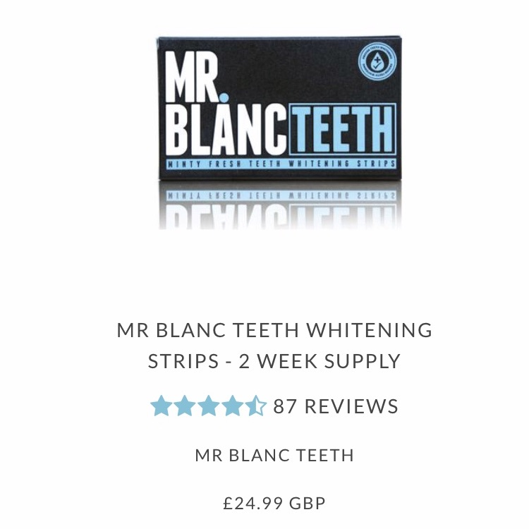 3 x Brand new mr blanc