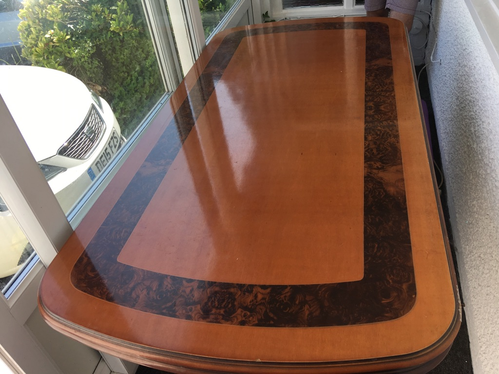 Lovely Walnut Veneer Extendable Dining Table