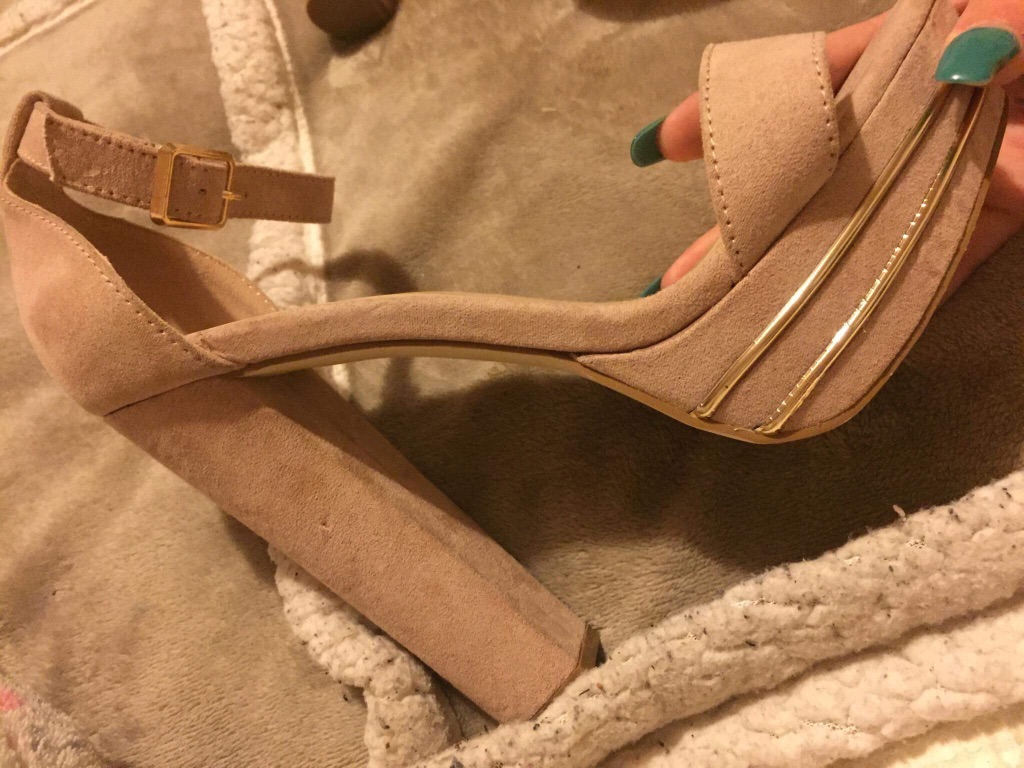 High glam nude platform heels