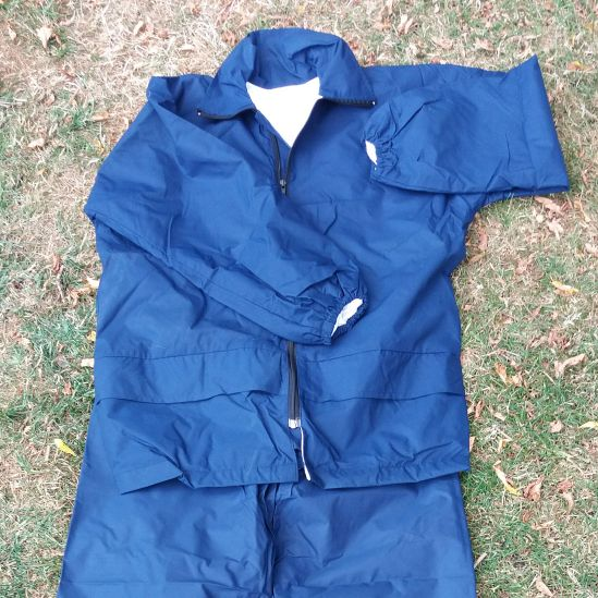 showerproof jacket and trousers