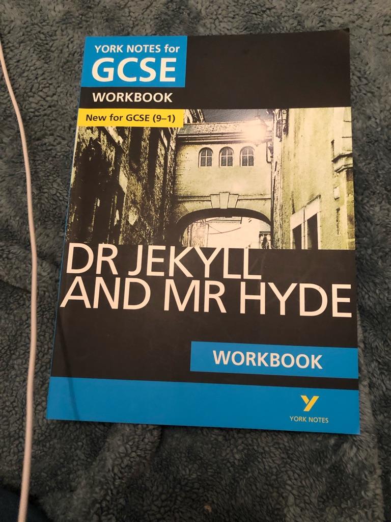 AQA GCSE Jekyll&hyde workbook never used