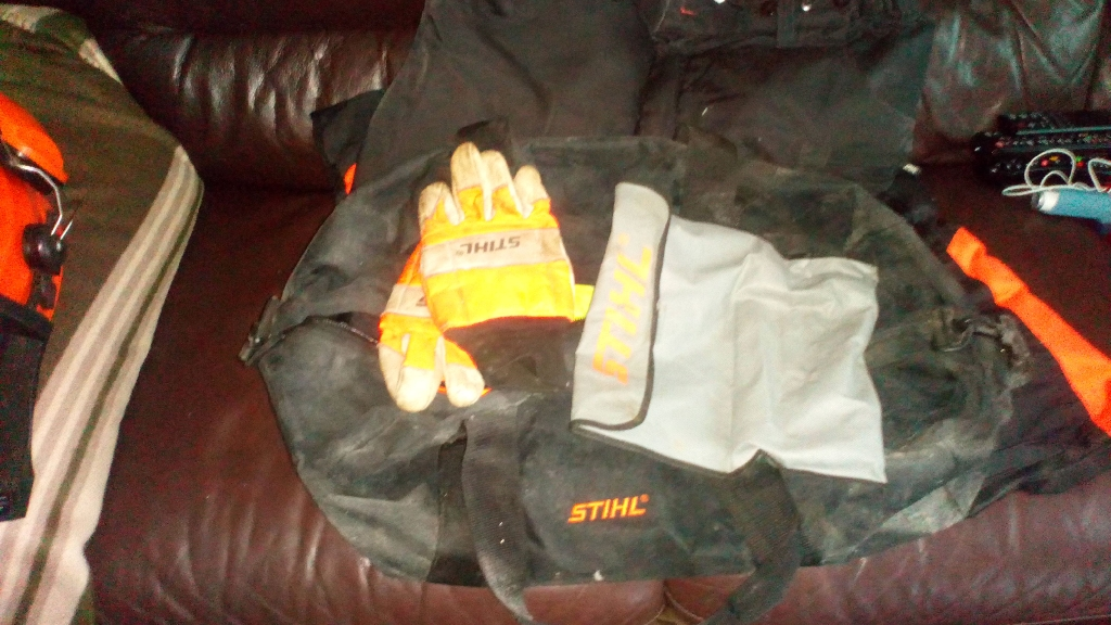 Stihl chainsaw protective clothing